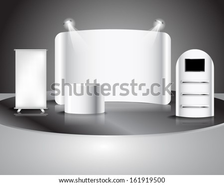 blank trade show booth, illustration Vector