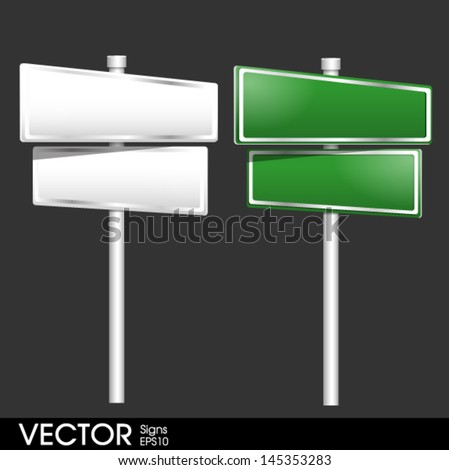 Blank traffic road sign