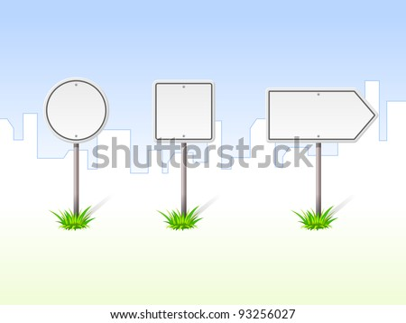 Blank Traffic Signs - stock vector
