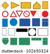 Blank traffic signs on white background - stock vector