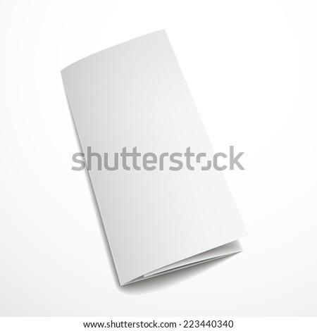 blank tri-fold brochure design isolated on white     - stock vector