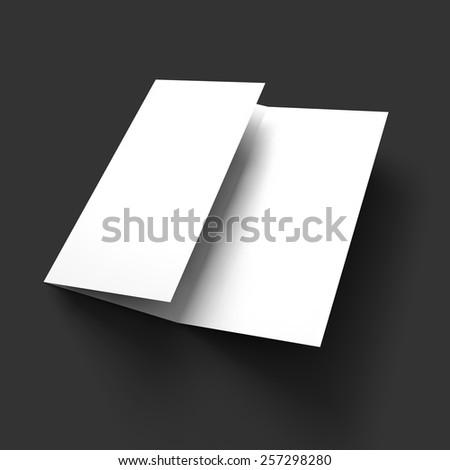 Blank trifold paper brochure mockup. Vector Illustration EPS10. - stock vector