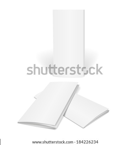 blank vector brochure template on white background for design