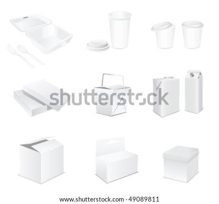 blank vector sets - stock vector