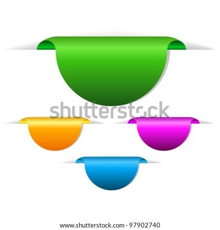 Blank vector tags illustration - stock vector