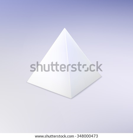 Blank Vector White Pyramid Template Your Stock Vector