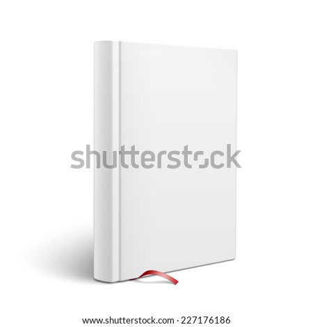 Blank Vertical Hardcover Book Template Red Stock Vector
