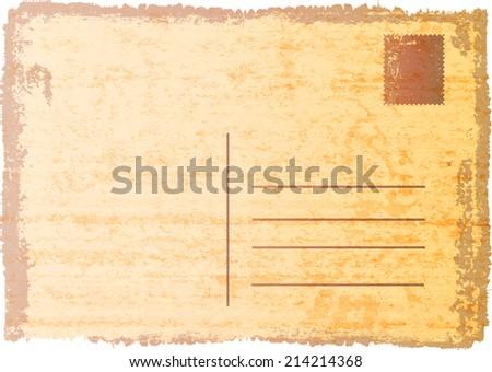 Blank vintage postcard - stock vector