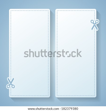 Blank white advertising coupon. Vector eps 10. - stock vector