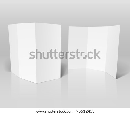 Blank white booklet vector template - stock vector