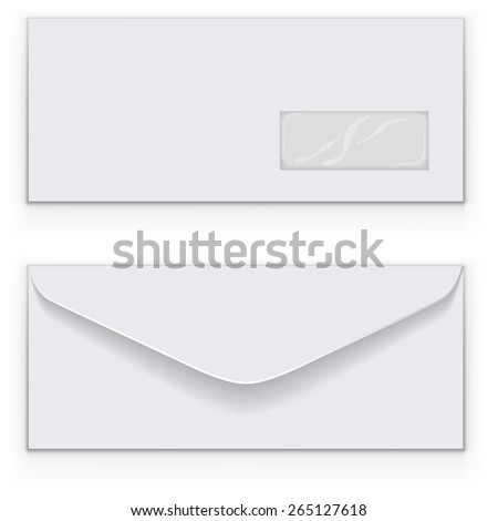 Blank white business envelop vector template. - stock vector