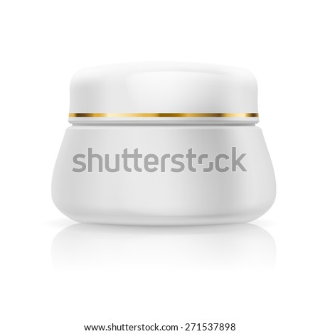 Blank white cream isolated on  white background - stock vector