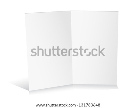 Blank white folded paper set