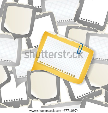 Blank white papers seamless background - stock vector