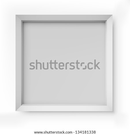 blank white picture frame isolated on white background vector template - White Square Frames