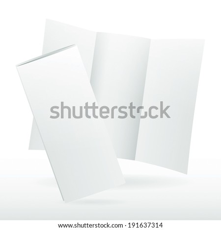 Blank Tri Fold Brochure Stock Photos, Royalty-Free Images