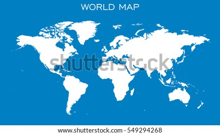 World map vector world map template stock vector 320711546 blank white world map isolated on blue background world map vector template for website gumiabroncs Images