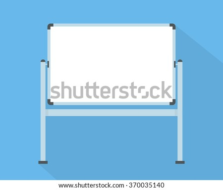 Blank whiteboard - Flat style - stock vector
