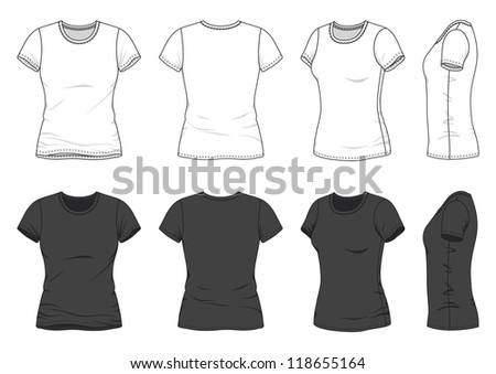Blank Women's t-shirt - stock vector