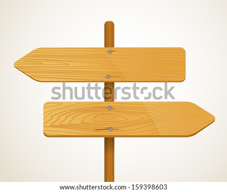 Blank Wood arrow boarders. Template for a text