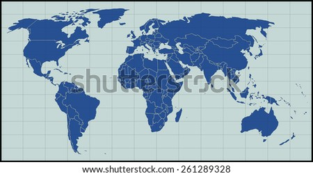 Blank world map stock vector 261289328 shutterstock blank world map gumiabroncs Images