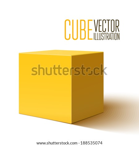 Blank yellow box isolated on white background. Vector illustration - stock vector