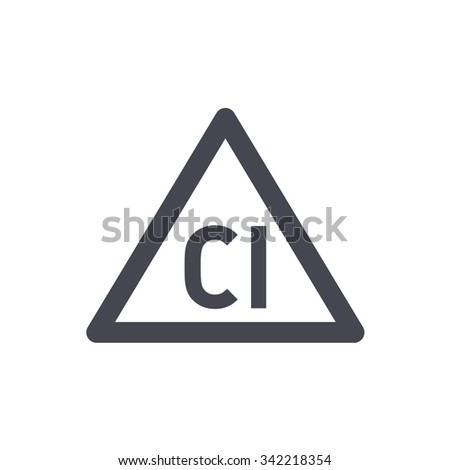 Bleach with chlorine. Washing sign. Laundry symbols - stock vector