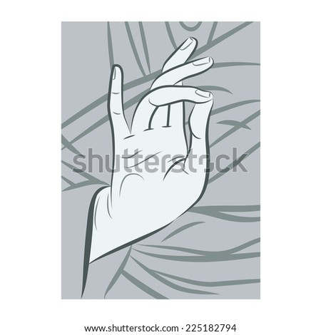 Blessing Hand - stock vector
