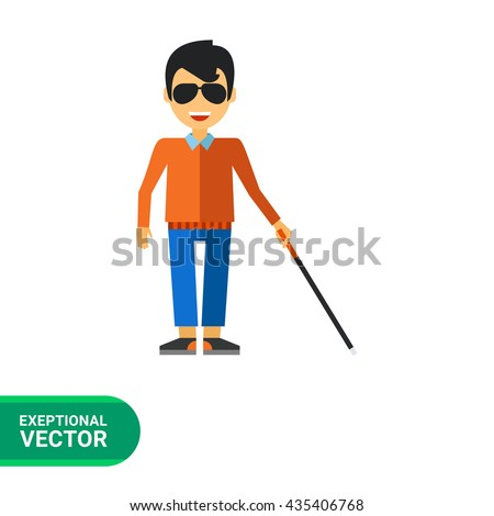 Blind Person Stock Vectors, Images & Vector Art | Shutterstock