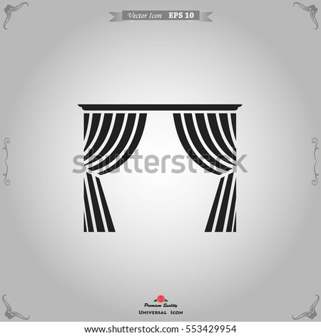 Blinds Icon. Interiors Vector Illustration.