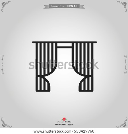 Blinds Icon. Interiors Vector Illustration