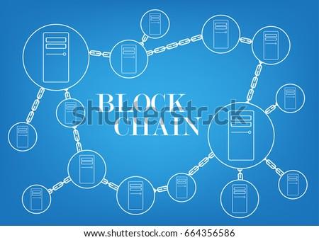 Block chain technology background wallpaper imagem vetorial de banco block chain technology background wallpaper ccuart Gallery
