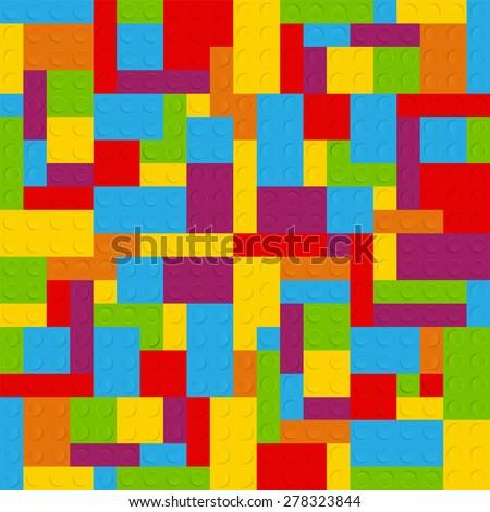 Block Seamless Pattern Vector Illustration - stock vector