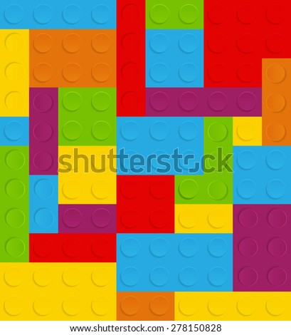 Block Seamless Pattern Vector Illustration EPS10 - stock vector