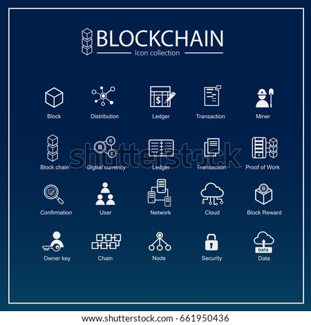 Blockchain icon set information icon analytics stock photo photo blockchain icon set information icon analytics cloud computing blockchain block ccuart Gallery
