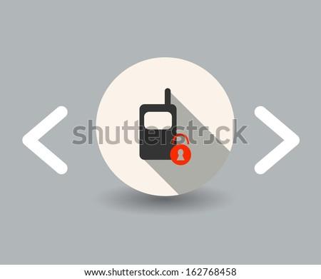 blocking icon - stock vector