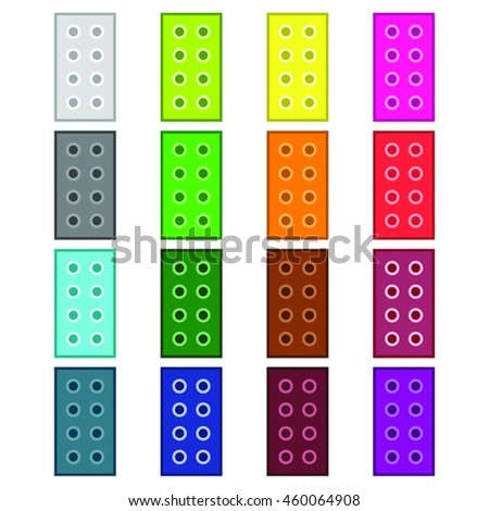 blocks constructor vector set on the white background