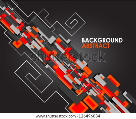 Blocks | geometrical modern abstract background template - stock vector