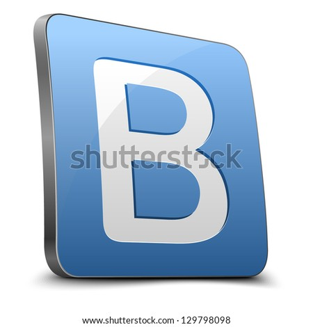 Blog button - stock vector