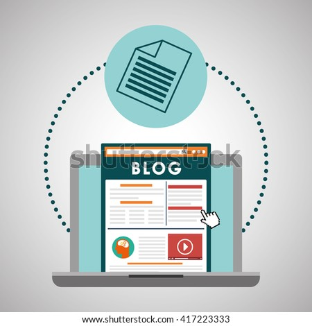 Blog design. Social media concept. online illustration, vector