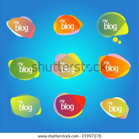 Blog design! Web 2.0 - stock vector