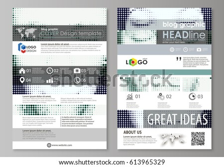 Blog Graphic Business Templates Page Website Stock Vector 613965329 ...