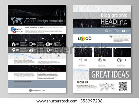 Page Website Design Template Vector Layout Abstract Infographic Background
