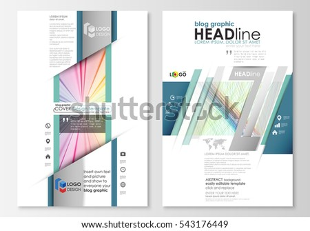 Blog Graphic Business Templates Page Website Stock Vector 543176449 ...