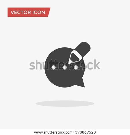 Blog Icon in trendy flat style isolated on grey background. Blogging symbol for your web site design, logo, app, UI. Vector illustration, EPS10. - stock vector