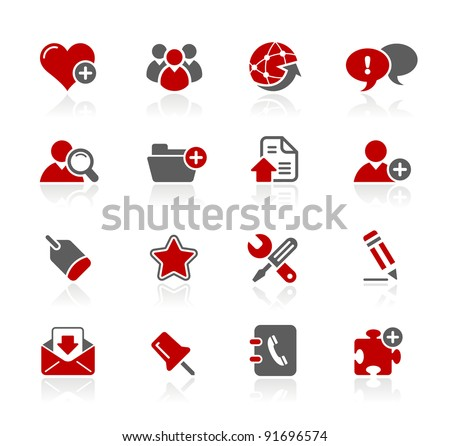 Blog & Internet Icons - stock vector
