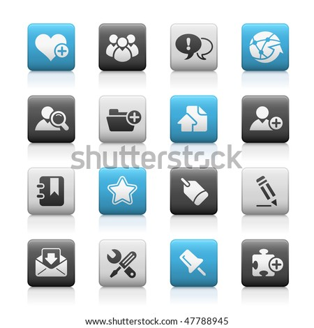 Blog & Internet Web Icons // Matte Series - stock vector