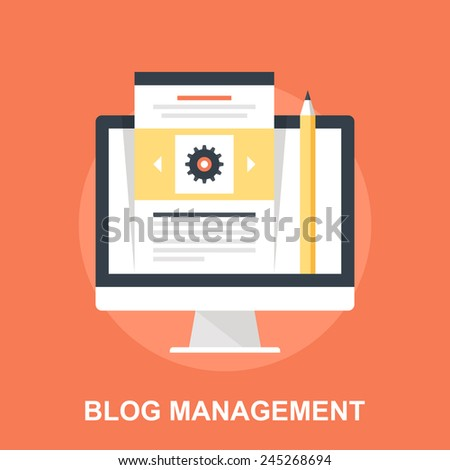 Blog Management - stock vector