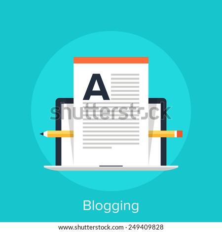 Blogging - stock vector