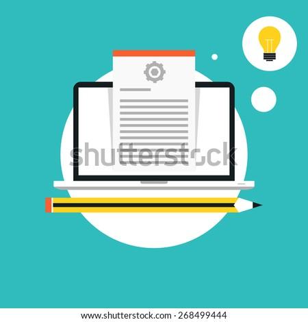 Blogging concept - stock vector
